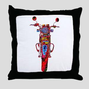 Motorrad frontal Throw Pillow