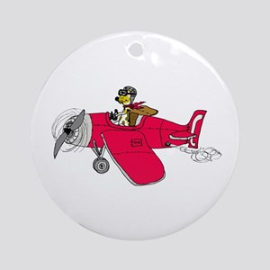 Jacky Pilot Round Ornament