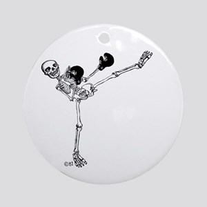 Kickboxer Round Ornament