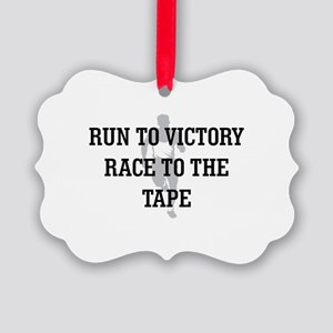 Race to the Tape Picture Ornament