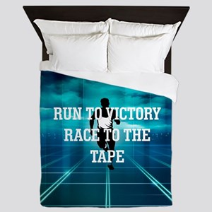 Race to the Tape Queen Duvet