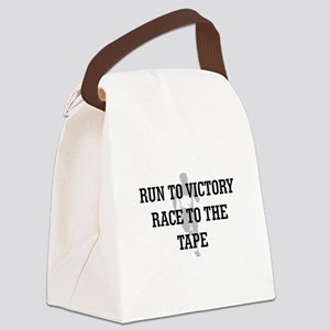 Race to the Tape Canvas Lunch Bag