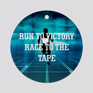 Race to the Tape Round Ornament