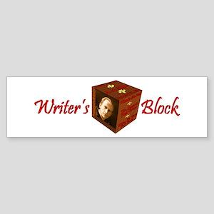Writer's Block--A.A. Milne Bumper Sticker