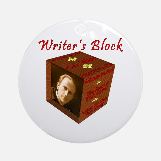Writer's Block--A.A. Milne Round Ornament