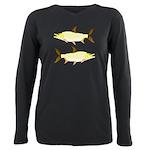 Giant Tigerfish Plus Size Long Sleeve Tee
