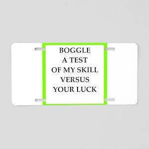 boggle Aluminum License Plate