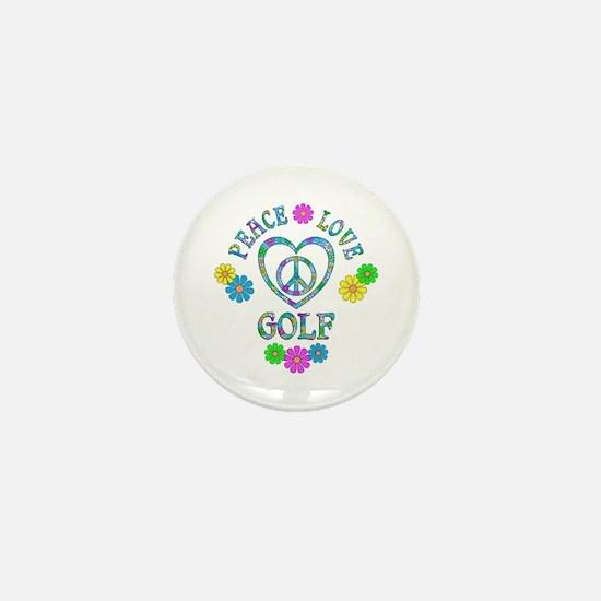 Peace Love Golf Mini Button