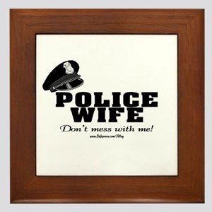 Police Wife Framed Tile
