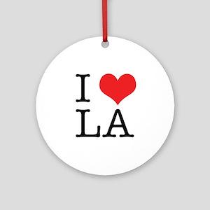 I Love Los Angeles Ornament (Round)