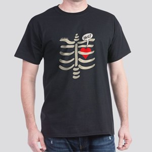 Distressed heart imprisoned inside a rib c T-Shirt