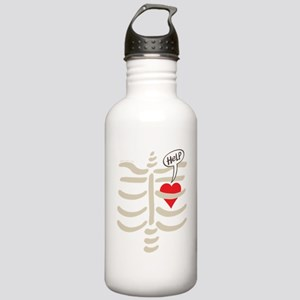 Distressed heart impri Stainless Water Bottle 1.0L