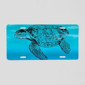 Loggerhead Turtle Aluminum License Plate