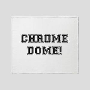 CHROME DOME - BALDY Throw Blanket