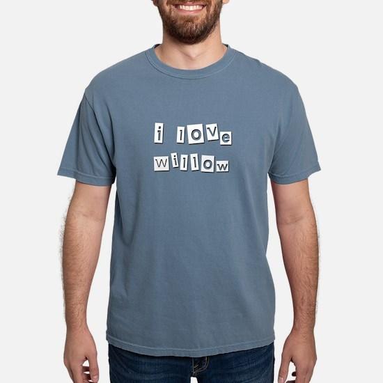 I Love Willow Women's Dark T-Shirt