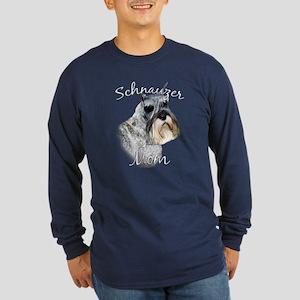 Std. Schnauzer Mom2 Long Sleeve Dark T-Shirt