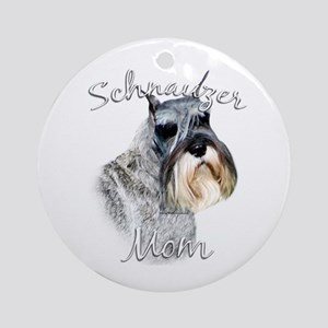 Std. Schnauzer Mom2 Ornament (Round)