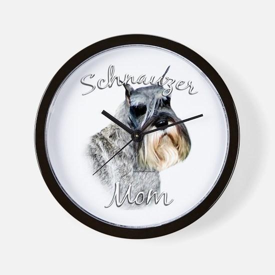 Std. Schnauzer Mom2 Wall Clock
