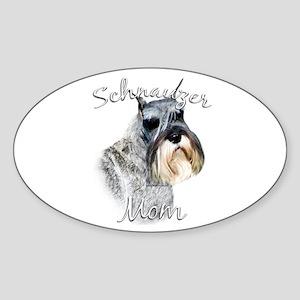 Std. Schnauzer Mom2 Oval Sticker