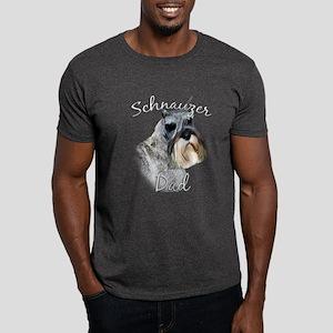 Std. Schnauzer Dad2 Dark T-Shirt