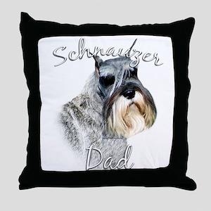 Std. Schnauzer Dad2 Throw Pillow