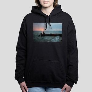 Lake MIchigan Breakwall Women's Hooded Sweatshirt