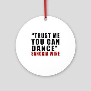 Sangria Wine Designs Round Ornament
