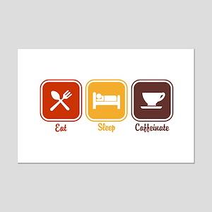 Eat Sleep Caffeinate Mini Poster Print
