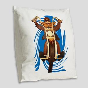 RIDE Burlap Throw Pillow