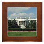 White House Framed Tile