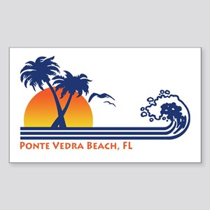 Ponte Vedra Beach, FL Sticker (Rectangle)