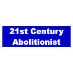 21st Century Abolitionist Bumper Sticker