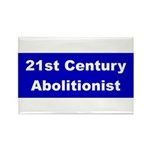 21st Century Abolitionist Rectangle Magnet (100 pa