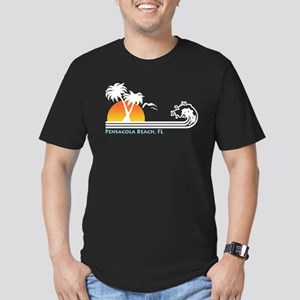 Pensacola Beach, FL Men's Fitted T-Shirt (dark)