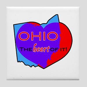 Ohio - The Heart Of It! Tile Coaster
