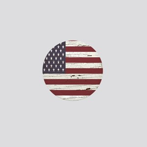 Tree Bark American Flag Mini Button