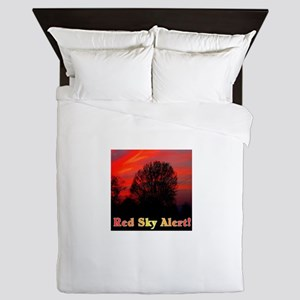 Red Sky Alert! Queen Duvet