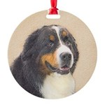 Bernese Mountain Dog Round Ornament