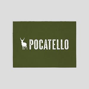 Deer: Pocatello, Idaho 5'x7'Area Rug