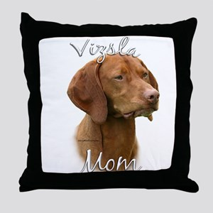 Vizsla Mom2 Throw Pillow