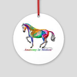 AnatomyInMotion Piaffe Round Ornament