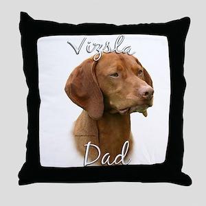 Vizsla Dad2 Throw Pillow