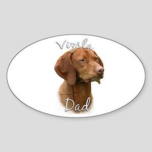 Vizsla Dad2 Oval Sticker