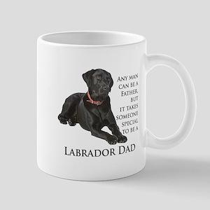 Black Lab Dad Stainless Steel Travel Mugs