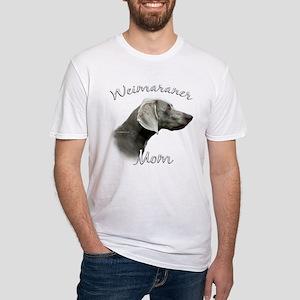 Weimaraner Mom2 Fitted T-Shirt