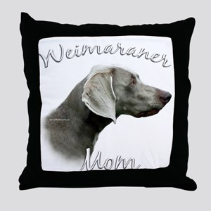 Weimaraner Mom2 Throw Pillow