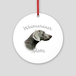 Weimaraner Mom2 Ornament (Round)