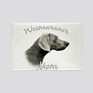 Weimaraner Mom2 Rectangle Magnet