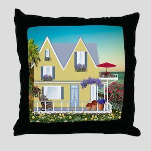 Seaside Home Throw Pillow