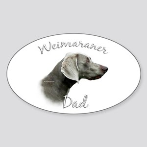 Weimaraner Dad2 Oval Sticker